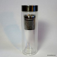 Glass Travel Jar with Infuser Basket (14oz.)